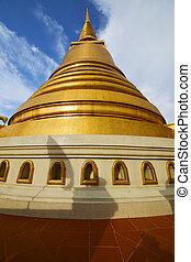 金, タイ, 金属, 抽象的, 交差点, 窓, バンコク