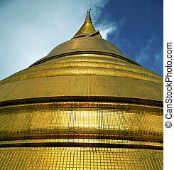 金, タイ, 金属, 抽象的, 屋根, 交差点, バンコク