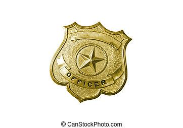 金, バッジ, 警察