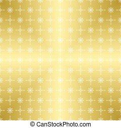 金, パターン, -, ベクトル, 装飾, 白