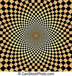 金, パターン, 抽象的, 背景, 放射状, 幾何学的