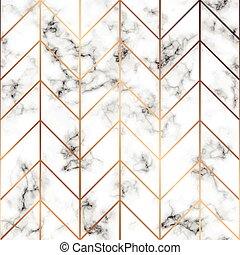 金, パターン, 現代, seamless, 大理石模様にすること, 贅沢, ライン, ベクトル, デザイン, 背景, 大理石, 黒, 白, 手ざわり, 幾何学的, 表面