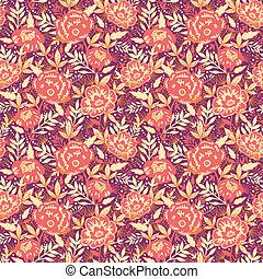 金, パターン, 葉, seamless, 背景, 花