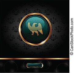 金, パッキング, heraldic, ワシ