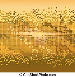 金, ピクセル, 背景
