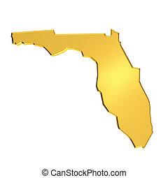 金, フロリダの地図