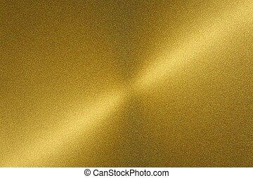 金, ブラシをかけられる, シート, 抽象的, 金属, 手ざわり, 背景, 光沢がある