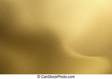 金, ブラシをかけられる, 抽象的, 手ざわり, 波, 金属, 背景, 光沢がある