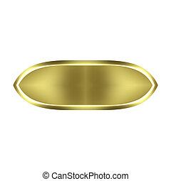 金, ボタン, 3d