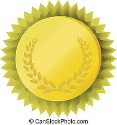 金, メダル, 月桂樹