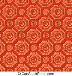 金, 中国語, 色, パターン, 装飾,  seamless, 赤