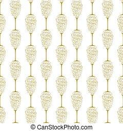 金, 休日, 陽気, 形態, レタリング, 贈り物, 手, ガラス, 背景, 年, 新しい, 白, シャンペン, クリスマスカード, 幸せ