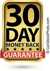 金, 印, お金, 30, 背中, イラスト, ベクトル, 日, 保証