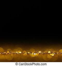金, 喜慶, 聖誕節, 背景。