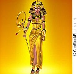 金, 女王, ファラオ