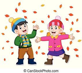 金, 季節, 恋人, 秋, 秋, 楽しむ