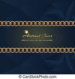 金, 宝石類, elements., 固体, 抽象的, カバー, 暗い, 白熱, ベクトル, デザイン, テンプレート, illustration.