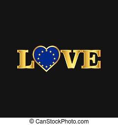 金, 愛, 組合, 活版印刷, 旗, ベクトル, デザイン, ヨーロッパ