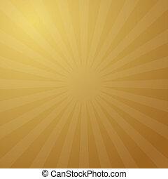 金, 抽象的, ベクトル, レトロ, 背景