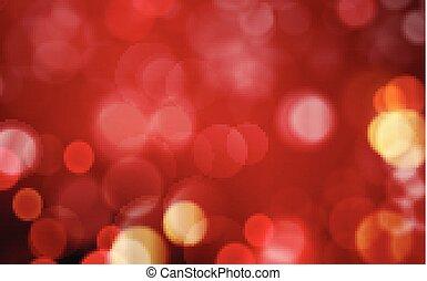 金, 抽象的, 暗い, ライト, 背景, blurres, 赤