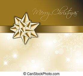 金, 抽象的, -, 背景, クリスマスカード