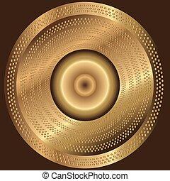 金, 抽象的, 背景, 円