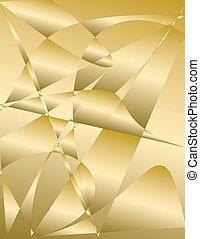 金, 抽象的, -, 背景