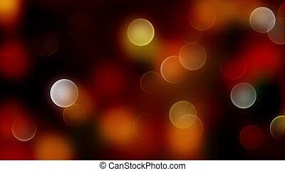 金, 抽象的, lights., 混合, bokeh, 焦点がぼけている, 背景, 赤
