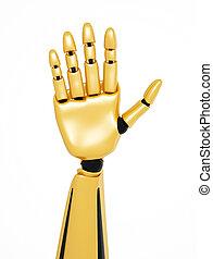 金, 提示, 数, /, 手, 5, ロボティック, こんにちは, 3d