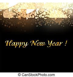 金, 新年, 背景, 由于, 迷離