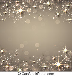金, 星が多い, クリスマス, バックグラウンド。