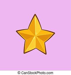 金, 星, -, クリスマス, 漫画, アイコン