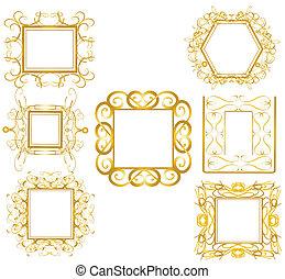 金, 框架, 1