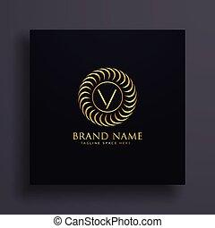 金, 概念, 意匠を彩色しなさい, 贅沢, 手紙, v, ロゴ