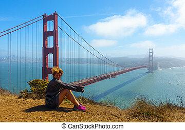 金, 橋, よく晴れた日, 門