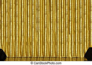 金, 段階のカーテン
