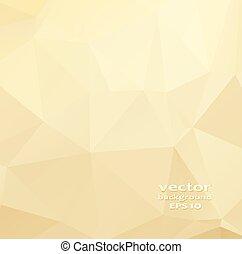金, 水晶, 抽象的, pattern., ビジネス, デザイン