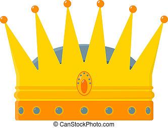 金, -, 王冠, イラスト, ベクトル, 皇族