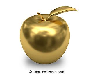 金, 白, アップル, 背景