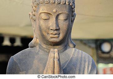 金, 祈ること, 仏, 像