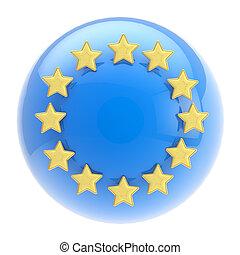 金, 組合, 球, 星, symbol:, ヨーロッパ