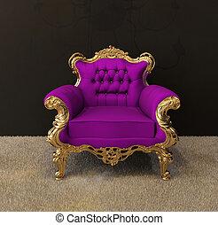 金, 肘掛け椅子, 皇族, フレーム, シャンデリア, 贅沢, 内部