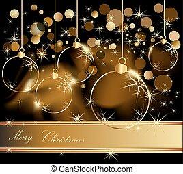 金, 背景, クリスマス, 陽気