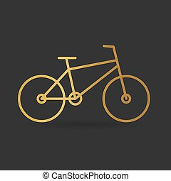 金, 自転車, icon-, ベクトル, イラスト