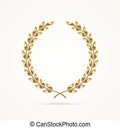 金, 花輪, 月桂樹