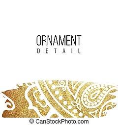 金, 装飾, ホイル, 間, デザイン, テンプレート