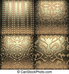 金, 装飾, レトロ