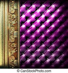 金, 装飾, 革