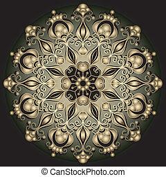 金, 輪, 框架