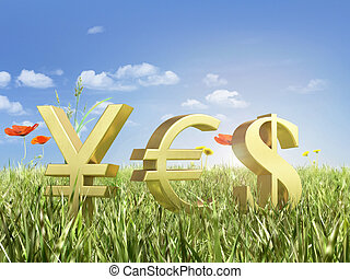 金, 通貨 記号, 上に, ∥, キー, ∥で∥, ∥, 単語, はい, 上に, ∥, sky.